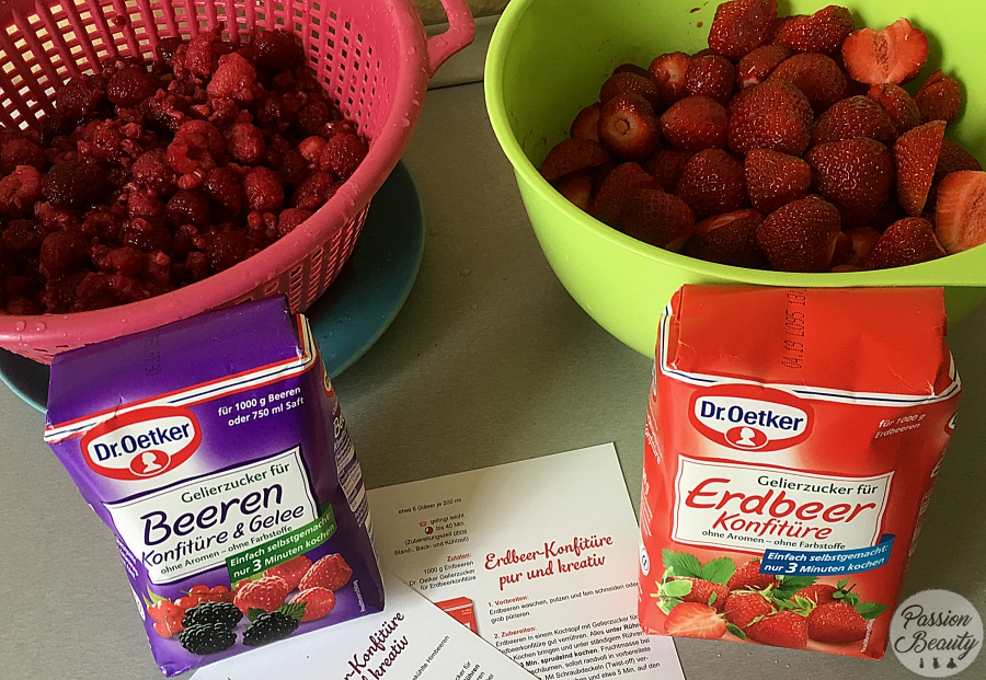 Thermomix: Marmelade mit dem Dr. Oetker Gelierzucker für Beeren und Erdbeeren