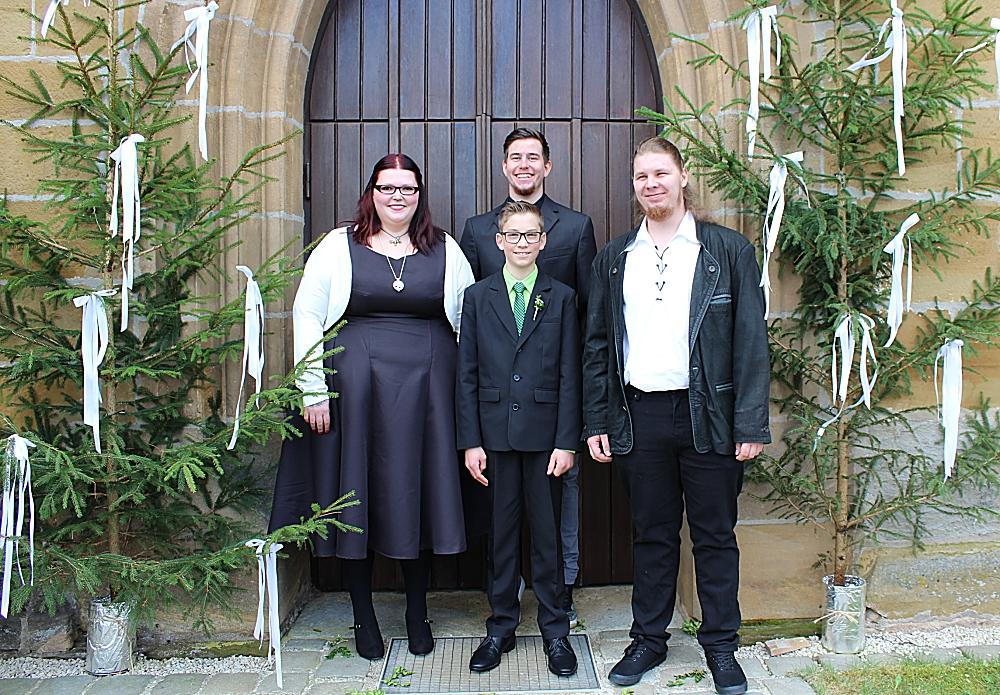 Mein Bruder, Christian, mein Patenkind und Ich.