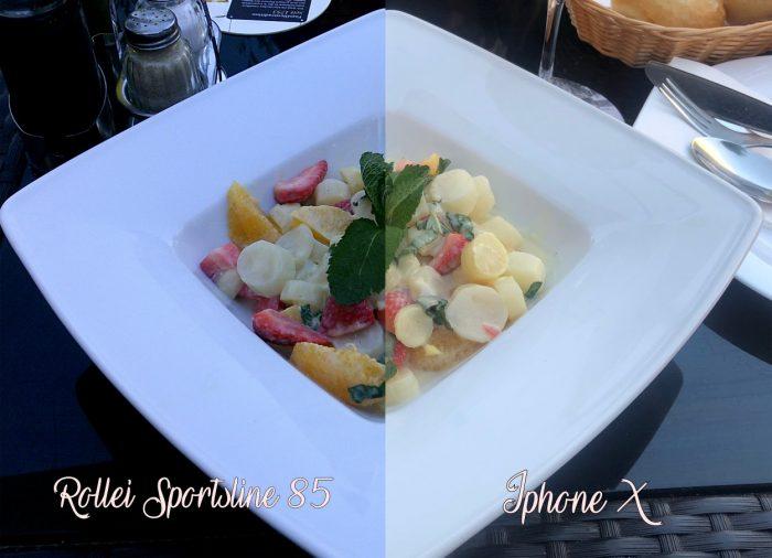 Links die Sportsline 85 und rechts mit meinem Iphone aufgenommen.