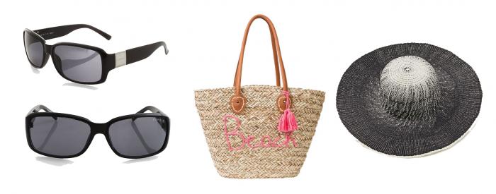 Sonnenbrille, Tasche, Hut - Das darf nicht fehlen.