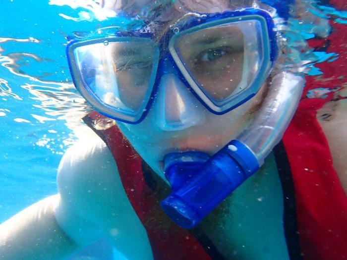 Christian beim Schnorcheln. Ich liebe diese Unterwasserkamera!